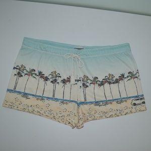 P.J. Salvage palm trees sleep lounge shorts XL